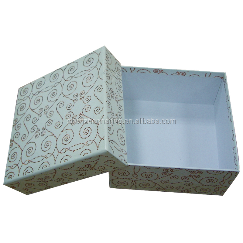 China printing supplier cardboard box with lid and bottom structure