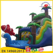 Jungle Sea Inflatable Water Slide for sales