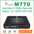 Fanless pc desktop with ram 4gb ddr3 i7 computer
