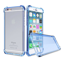 For apple iphone 7 case Anti-knock TPU Transparent Clear Back Cover Full Protective for iphone 6s