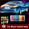 Hot Sale Sound Rhythm Music Activated EL Equalizer Car Sticker Glow Flash Panel Multi Designs LED car music light