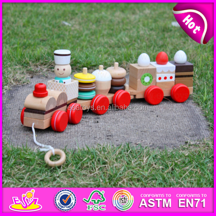 2016 Newest kids wooden pull and push toy,Imitate wooden Toys pull along bird & egg,Hot sale wooden pull toy cart W05B005
