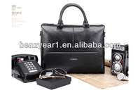Hot Sell Black Cow Leather Man Business Briefcase Bag