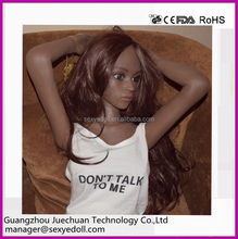 Life like beautiful girl 132cm black skin sex doll for men, small silicone sex doll, artificial doll for sex
