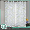 China top ten kitchen polyester door printing voile curtain for ready made