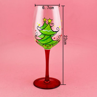 High quality champang wine glass with painting hot sale