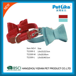 cat collar red tie bow and blue tie bow Decorative fancy pet products for small medium pets