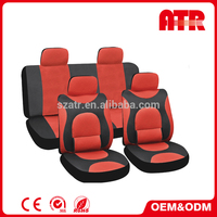 Steer wheel cover and safety belt cover included free t-shirt car seat cover