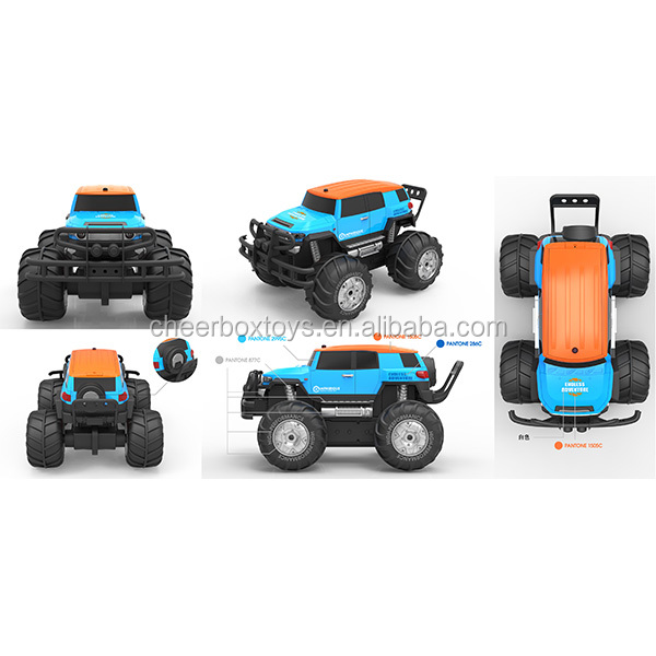 8 channel ride on land and water remote control off-road monster car with big vehicle wheel toy for children outdoor play
