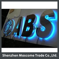 LED led channel letter signs brand car logo design and make
