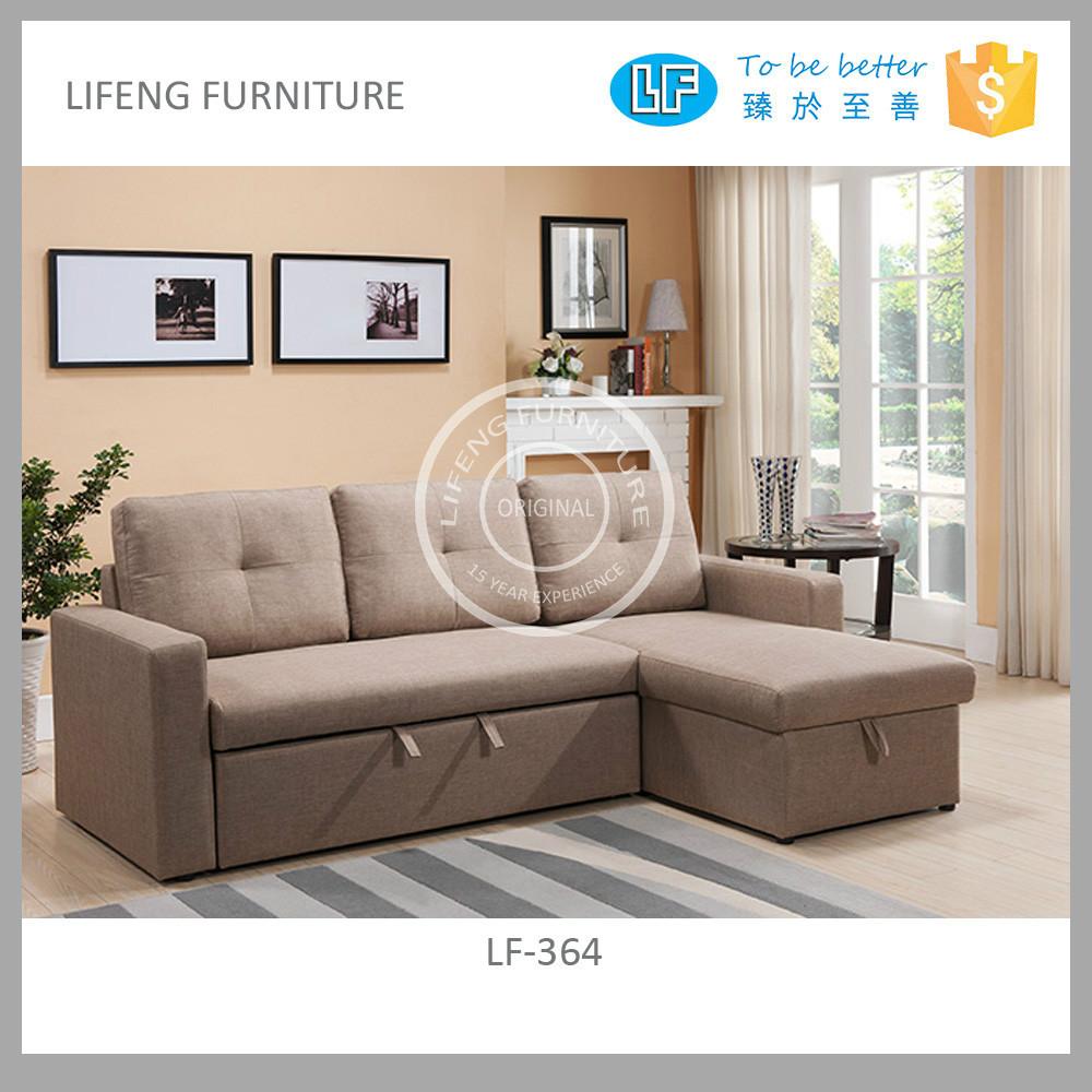 New Style Fabric Corner Sofa Big Sofa Bed With Storage Lf