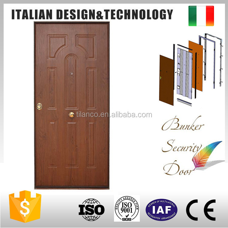 Guaranteed quality italian steel wood armored security door