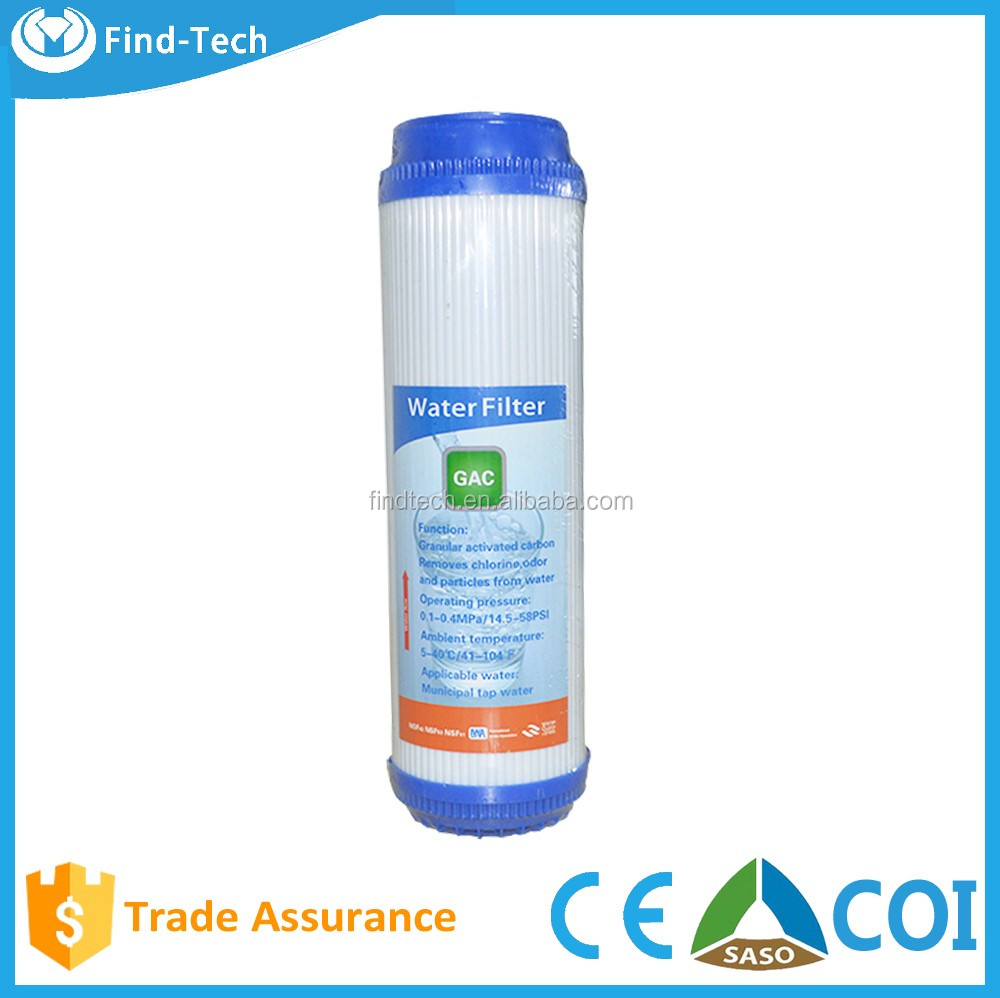High grade factory whole sale s GAC Water Filter Cartridge with coal carbon and coconut carbon fiber
