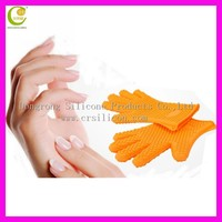 Heat resistance fingers style silicone oven mitt/pot holder/oven glove/cooking silicone glove