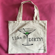 Custom size cotton canvas shopping tote bag with client's logo printing