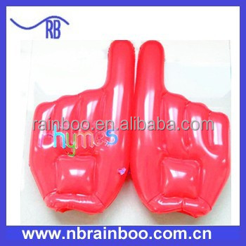 Hot selling Phthalates Free Pvc cheering Inflatable Hand for promotional gift ABMA203