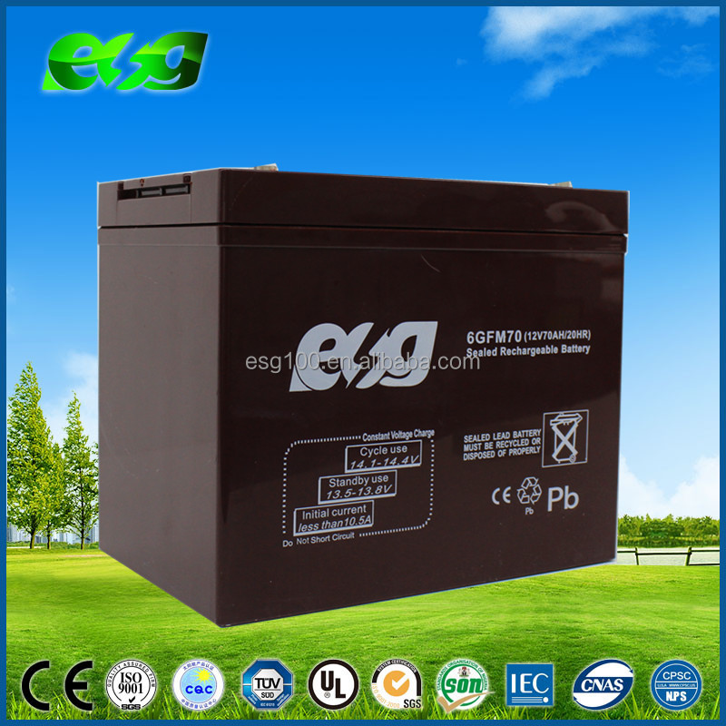 Deep cycle Rechargeable AGM Battery 12V70Ah Sealed Lead Acid gel Battery,sla vrla battery 70Ah