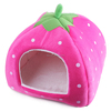 Wholesale colorful strawberry shape small washable pet bed