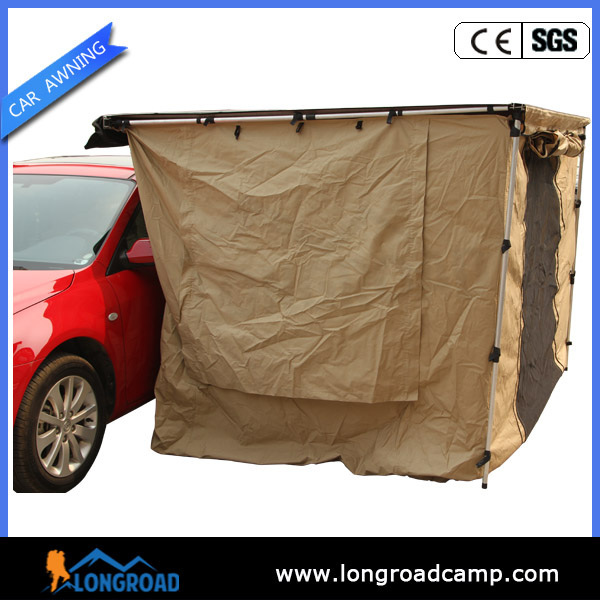 Easy set up components for gas tent awning