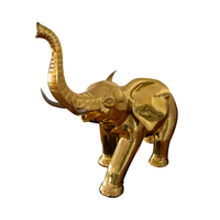 elephant art model manmade knock and weld 3d metal handicraft sculpture