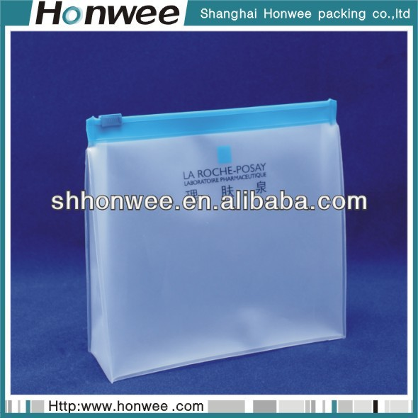 2014 hot sale frosted ziplock pvc packing bags