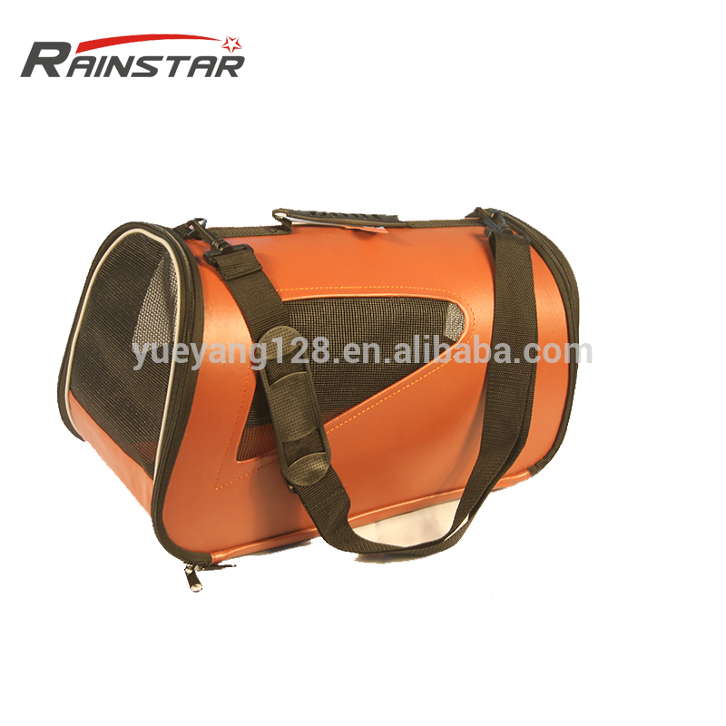 China wholesale PU leather Travel Dog Bag airline approved pet carrier