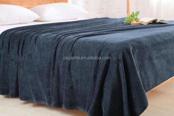 brush and dyed pv fleece knitted blanket