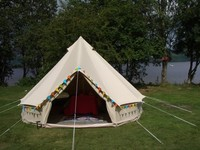 outdoor 4m luxury canvas party bell tent