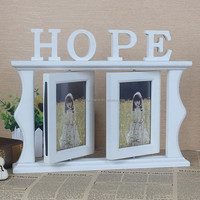 Wholesale Double wooden funia photo frame