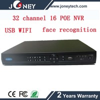 32 channel POE NVR with 16ch POE input with face recognition