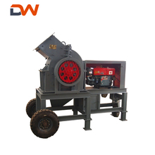 Small Mobile Diesel Engine Portable Glass Coal Gold Stone Rock Movable Hammer Mill Crusher Machine Price For Sale Exporting