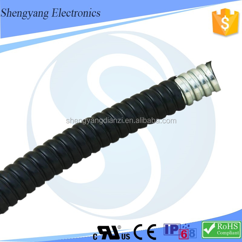 SY Wiring Accessories Flexible Type Nitrile Rubber Buna Non-Standard Metal Corrugated Tube Fireproof PVC Pipe