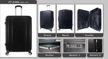 Trendy High quality hot sale item Newest promotional fashion men Travel ABS PC luggage Trolley case black color