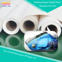 Eco-solvent Semi-glossy PP decorative film /pp wall film