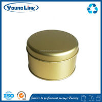 square cosmetic gift packing tin box