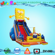2016 new designed giant inflatable amusement park,inflatable trampoline spongebob