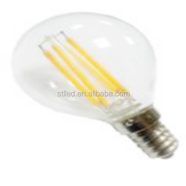 Alibaba china light 2.5W Globe 45mm E14 dimmable filament led lamp ceiling bulb