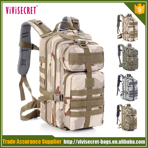 Military camouflage tactical backpack knapsack traveling mountaineering rucksack