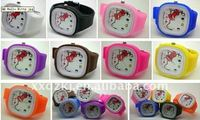 fashion and beautiful silicone hello kitty silicone jelly watch for Christmas Gifts