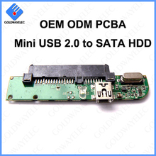 ODM OEM Mini USB 2.0 to SATA PCBA Printed Circuit Board Assembly