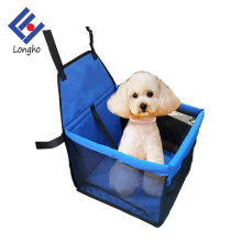 China factory waterproof dog cage car, ventilated foldable car dog pet carrier with inner safe belt clip