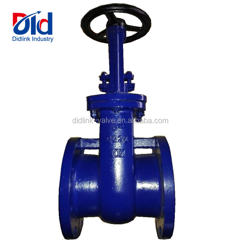 "Cast Iron/Ductile iron Flanged Hand Wheel Rising Stem Metal Sealed GG25 10K 6""Inch Water Gate Valve"