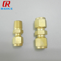 Customized Brass Compression Tube Fitting Adapter
