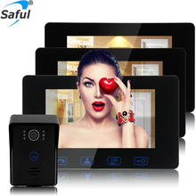 "Saful TS-YP708(1v3) 7"" monitor home security wired ip video door phone system"