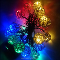 20L led solar string light with pendants--colorful sepa takraw