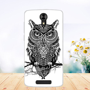 For Fly Fs510 Cases Soft Tpu Wolf Tiger Owl Rose Pattern Painted Cover Case For Fly FS510 Nimbus 12 5.0 Inch Fundas Phone Sheer
