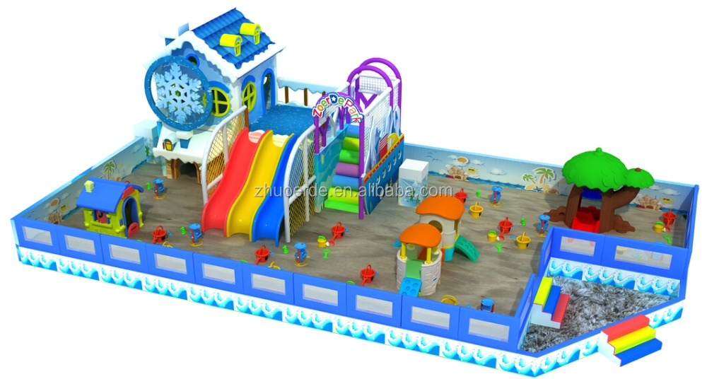Children sand play land indoor adventure playground equipment