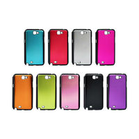 Luxury Leather Chrome Case for Samsung Galaxy Note 2 N7100