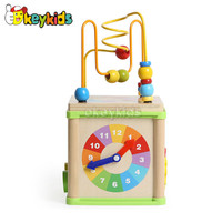 2016 wholesale baby wooden play cube, newest kids wooden play cube, fashion children wooden play cube W11B123