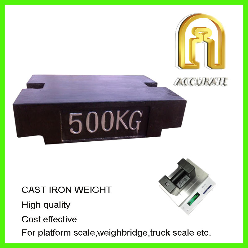 OIML Cast Iron weight mass 500kg 1000kg forklift counter weight